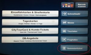 IsarCard Semster: MVG Automat - 1