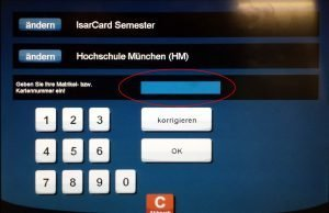 IsarCard Semster: MVG Automat - 3